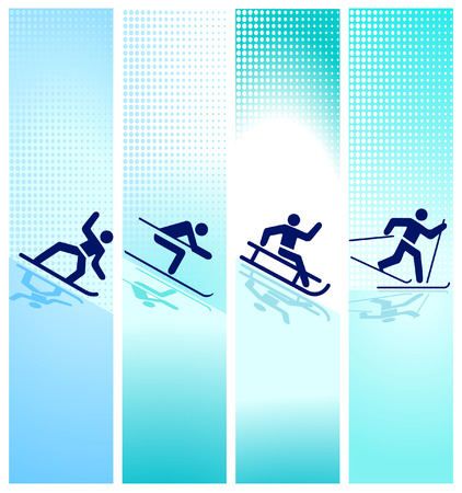 wintersport: winter sports in the mountain Illustration