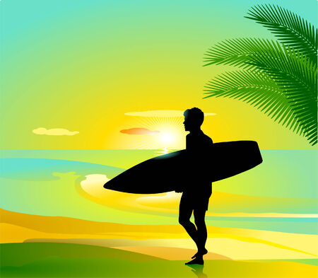Surfing Stock Vector - 8752823