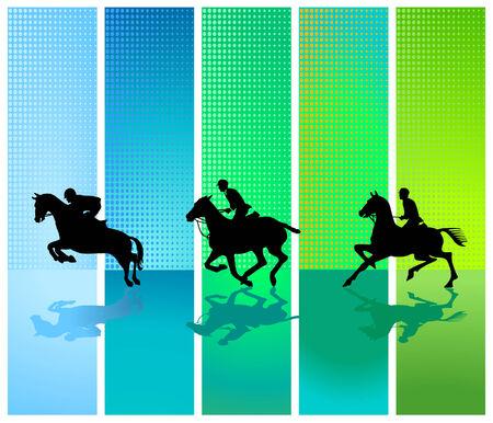 horseman: tres Caballero Vectores