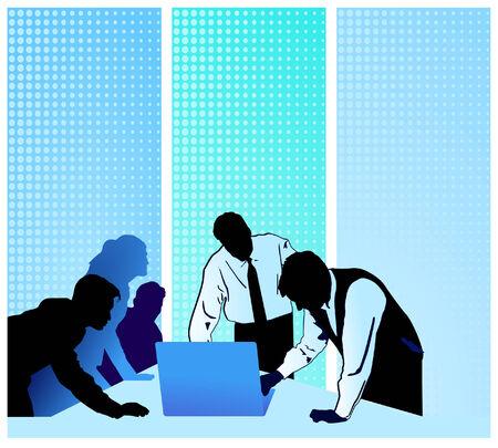 conferencia de negocios: Conferencia de negocios con equipo