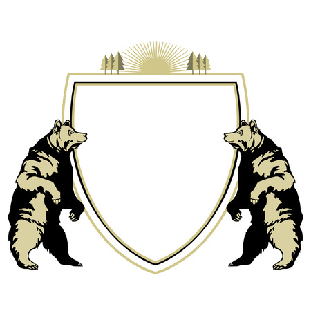 heraldic animal bear Ilustracja