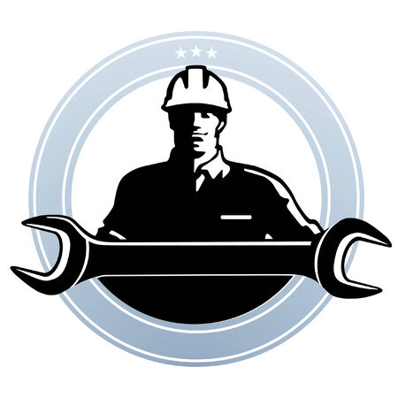 construction team: metalworker