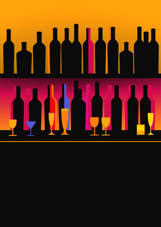 alcoholic drinks: Bottles of spirits and liquor