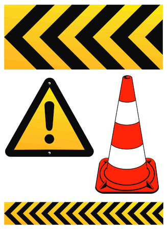 construction site: warning sign