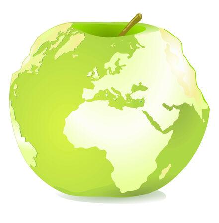World-Apple Stock Vector - 8753045