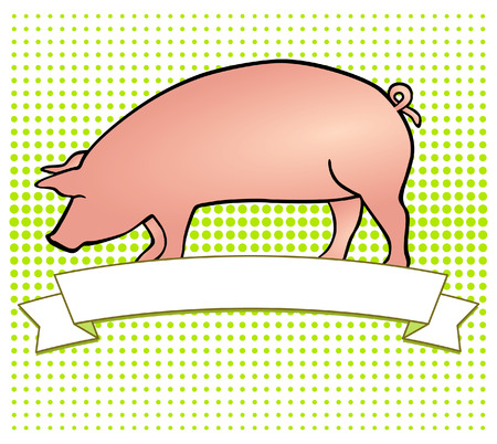 piglet: Pork-Label Illustration