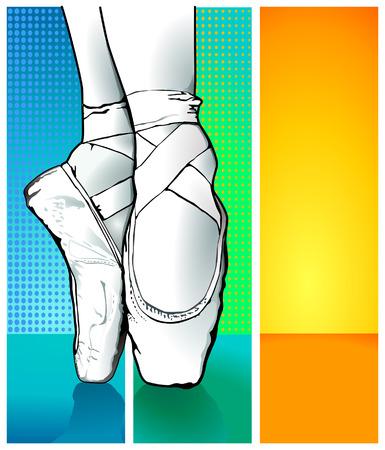 ballet dancer: bailarina de ballet Vectores