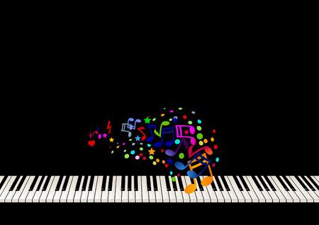 fortepian: Piano music arkusza Ilustracja