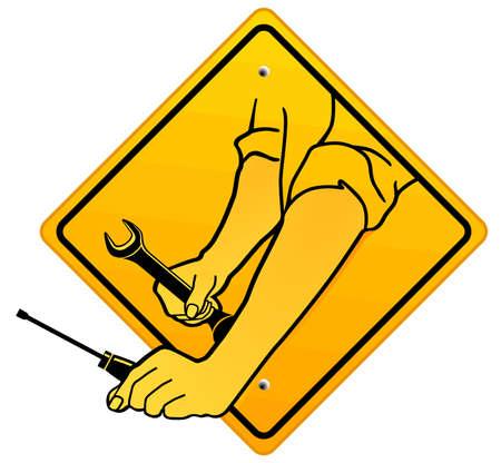 referenz: Auto Repair Shop-Verweis Illustration