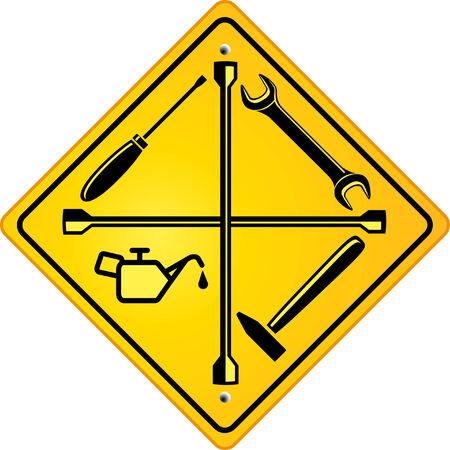 repair shop: signo de tienda de reparaci�n de coches Vectores