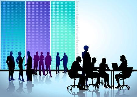 Conferencia de mesa redonda Ilustración de vector