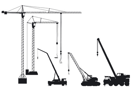 industrial machine: truck-mounted crane and tower crane