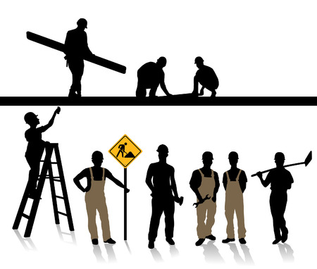 building craft, builder Stock Vector - 8864556