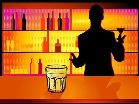 nightclub and barman
