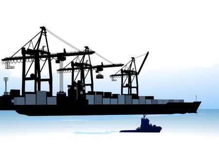 Harbor Terminal Vector Illustratie