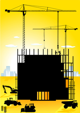 building site: high-building