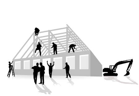 home constructions works Stock Vector - 8874293