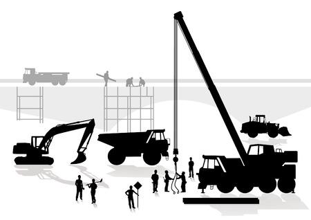 andamios: construcci�n de puente y la carretera Vectores
