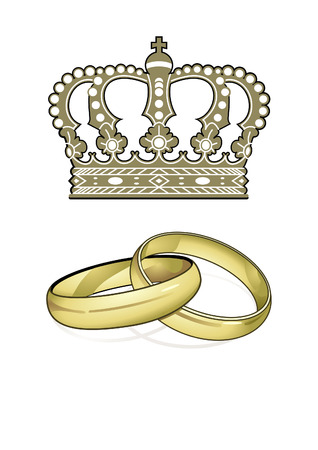 king crown: England Marriage Illustration