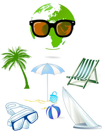 restful: holiday scenario Illustration