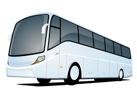 coach bus: white bus