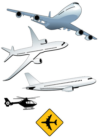 plane landing: turbo-jet aircraft