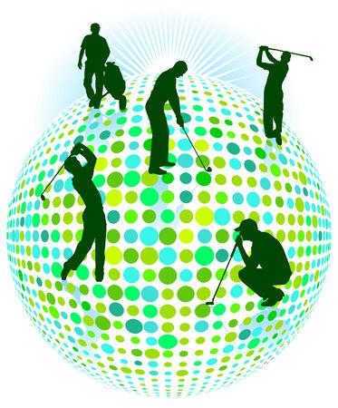 swings: golf player green