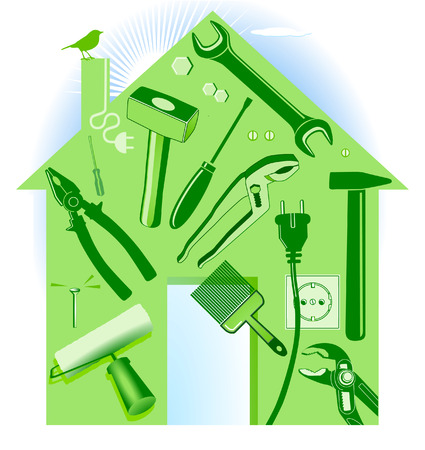 hand tool house Stock Vector - 8948458