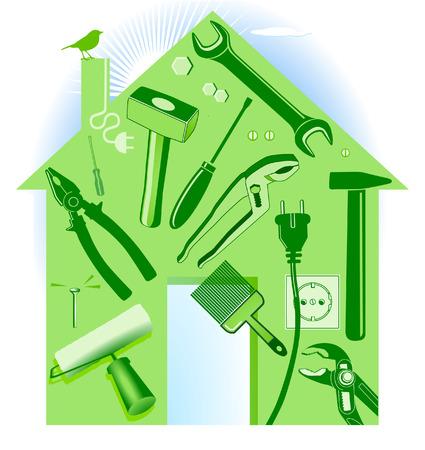 maison à outils à main