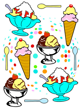 ice cream Stock Vector - 8994837