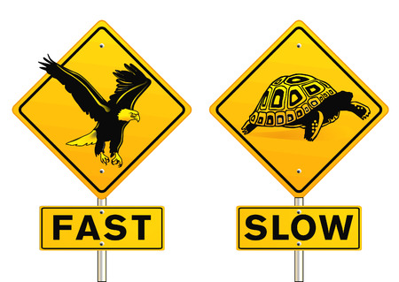 slowly: fast and slow sign