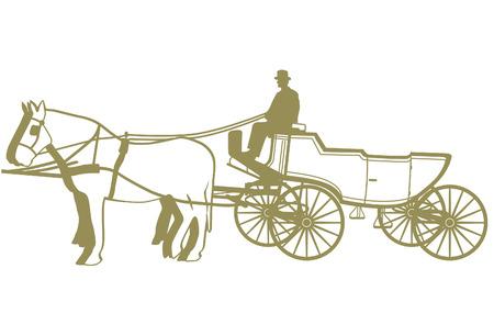 wedding carriage Vector