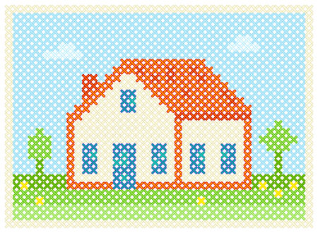 to embroider home Stock Vector - 9138510