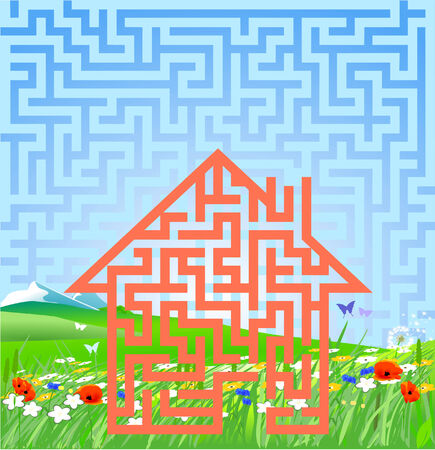 the answer to this home Stock Vector - 9138509