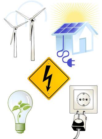 Elektric Sign Stock Vector - 9138508