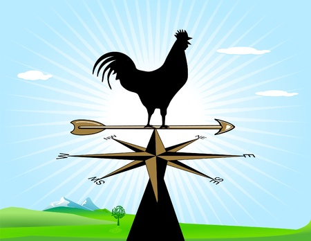 Weather-cock in the morning Stock Vector - 9331411