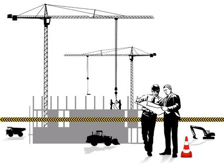 andamios: Arquitecto y construcci�n