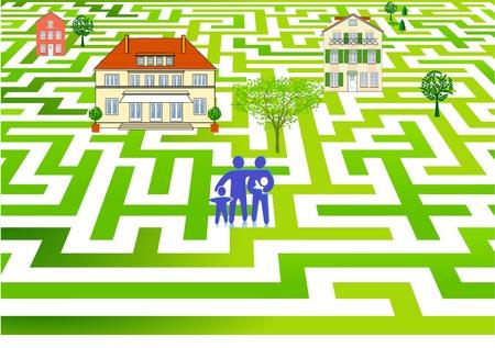 belonging: Home Search Illustration