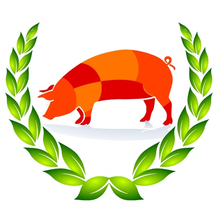 Quality Pig Sign Stock Vector - 9368958