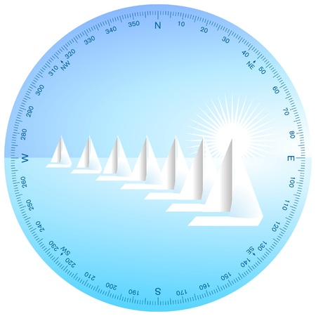 Sailboat Regatta Stock Vector - 9413897