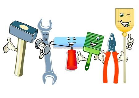 Happy Tool Stock Vector - 9421383