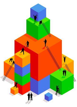 Cube Construction Stock Vector - 9439574