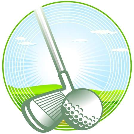Golf-Signet Vector