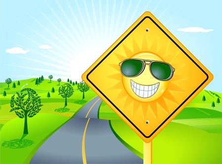 sun road: The Sun Shines Illustration