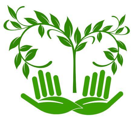 curare teneramente: Giardinaggio Vettoriali