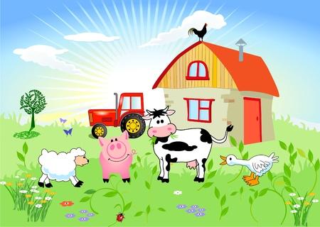 Farm animals Stock Vector - 9717094