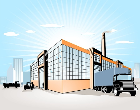 warehouse equipment: Factory + Transport