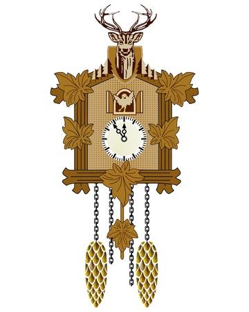 antique stamps: Cuckoo Clock