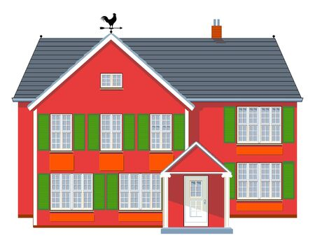 Red House Stock Vector - 9784960