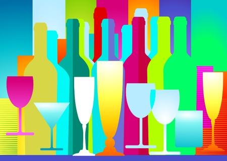 likeur: dranken decoratie Stock Illustratie